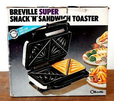 Vintage Breville Super Snack N' Sandwich Toaster Boxed Working Retro