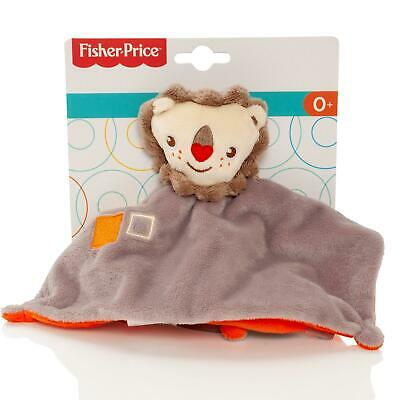 Fisher Price Baby Lion Teddy Comfort Blanket Soft Plush Comforter Rattle Toy