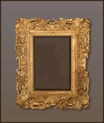 A Sculptural Wood Carved & Gilt French Baroque/Regence/Rococo Open Space Frame.