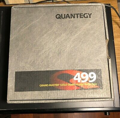 "QUANTEGY 499 Grand Master Gold 2"" Studio Mastering Audio Tape"