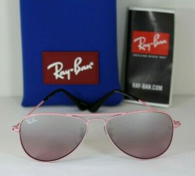 NEW AUTHENTIC RAY BAN Junior Pink Aviator RJ 9506S 211/7E Girl's Sunglasses