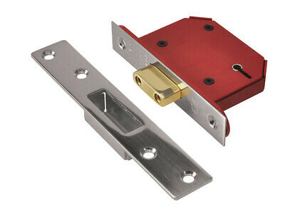 "UNION StrongBOLT 2105S SS 5 Lever Mortice Deadlock Visi 68mm 2.5"" UNNY2105SS25"