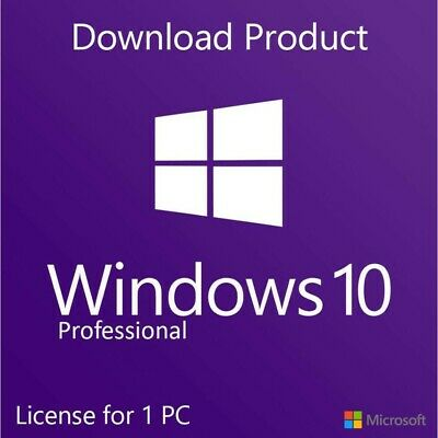 Genuine Windows 10 Pro Key 32/64 Bit Activation Code [1 License = 1 Pc]