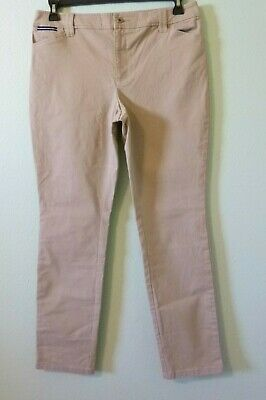 Charter Club Womens Pants 8 Beige Stone Khaki Cotton Stretch Straight Leg