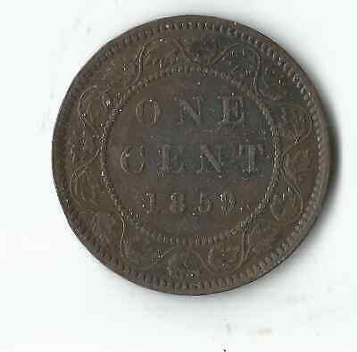1859 Queen Victoria Canada One Cent Large Penny Coin