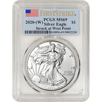 2020-(W) American Silver Eagle - PCGS MS69 - First Strike