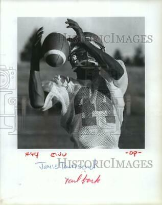 1987 Press Photo Tailback Jamie Townsend Hold Up His Hand to Catch a Football