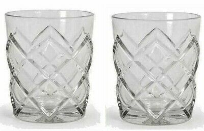 PINEA 2pc Whiskey Tumblers Drinking Glasses vintage cocktail