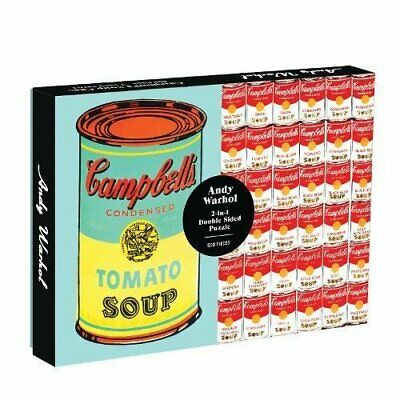Andy Warhol Soup Can 2-Sided 500 Piece Puzzle BOOKH NEU