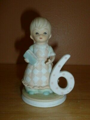 Lefton The Christopher Collection Porcelain Birthday Girl Age 9th Figurine 1982