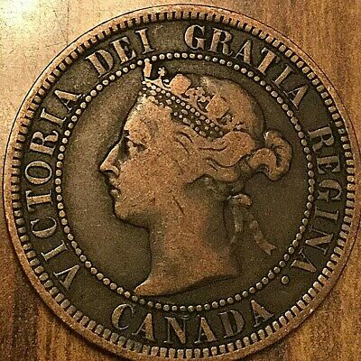 1887 Canada Large Cent Large 1 Cent Penny