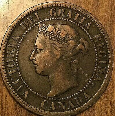 1892 Canada Large Cent Large 1 Cent Penny