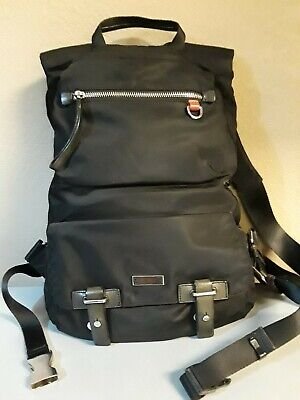 TUMI Travel Black Nylon & Leather BACKPACK