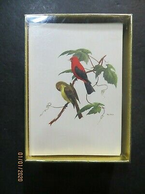 """MALE /& FEMALE/"""" by WEBER GORGEOUS Lithograph 78 1960 Vintage /""""SCARLET TANAGER"""