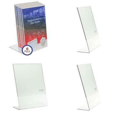 Source One 8.5 X 11-Inches Acrylic Slant Back Sign Holder, Brochure Holder, Pack