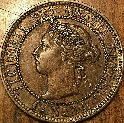 1896 CANADA LARGE CENT LARGE 1 CENT PENNY COIN - Fantastic example!