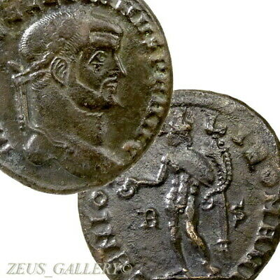 DIOCLETIAN Rome mint Scarce RIC 71a Genius Ancient Roman Follis coin large 27mm