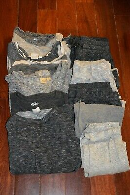 Old Navy GAP Mudd mix lot 10 comfly sweat pants tops leggings shirt size 10  12
