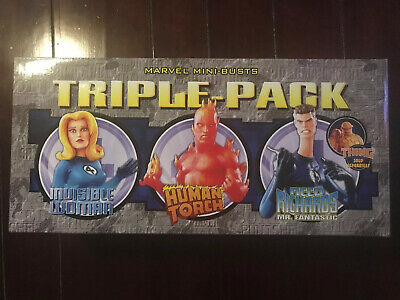 Marvel Fantastic Four Bowen Bust Triple Pack Reed Invisible Woman