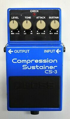 BOSS CS-3 Compression Sustainer Guitar Effects Pedal MIJ 1986 #76 Free Shipping