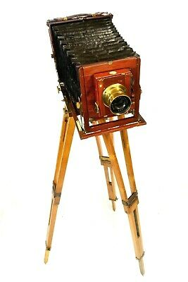 Antique ½ plate camera, Thornton Pickard 'Ruby', DDS and tripod included
