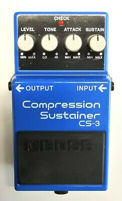 BOSS CS-3 Compression Sustainer Guitar Effects Pedal 1996 #81 Free Shipping