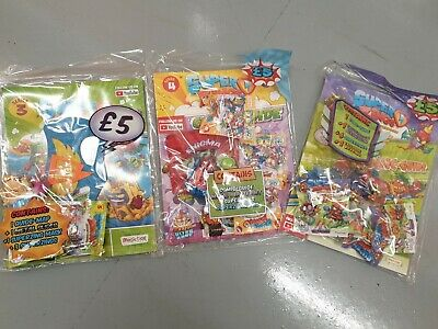 SuperZings Rivals of Kaboom Series 5 /4/3 Comic Guide packs Starter packs all 3