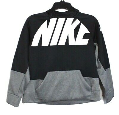Nike youth girls sweatshirt hoodie long sleeve black gray size L