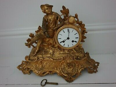 Stunning 19th Century French gild figural Mantle clock