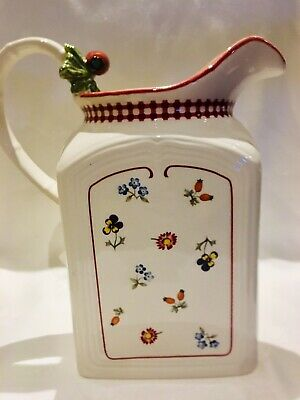 Very Rare, Villeroy And Boch Pitcher Jug, Petit Fleur. The Country Collection