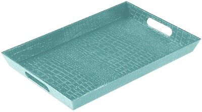Kitchen Serving Tray, 15 X 9.8 X 1 Inches,Turquoise /Pink,Made In Turkey