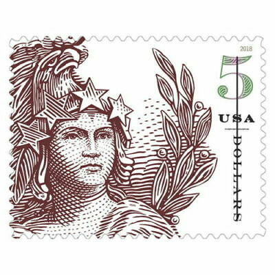 USPS New $5 Statue of Freedom Pane of 4 - Value of $20