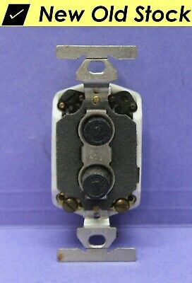 ✅ Vintage Push Button Light Switch, 3-Way Porcelain/Ceramic, Bryant - RARE - NEW