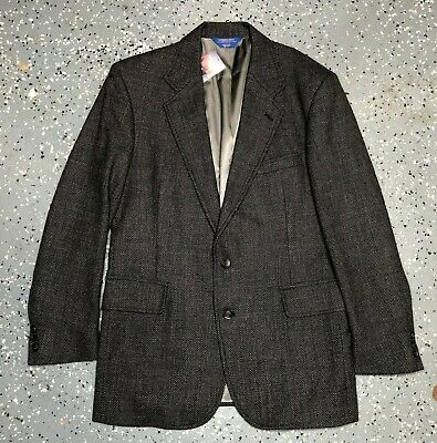 PENDLETON 96% Wool Blue Green Houndstooth Blazer Sport Coat Mens 42 LONG