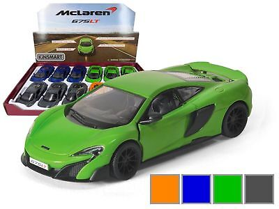 "New Kinsmart Diecast Cars 5/"" McLaren 720S Choose Any Color"