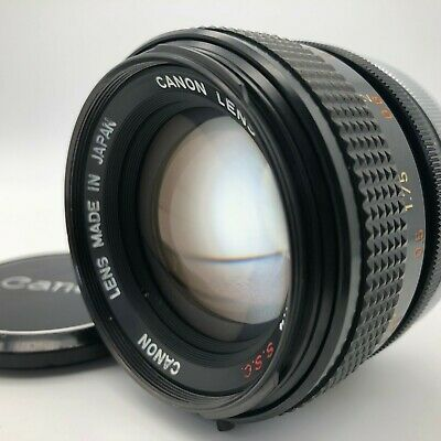 【Excellent+】 Canon FD  50mm f/1.4 SSC MF Standard Lens from Japan