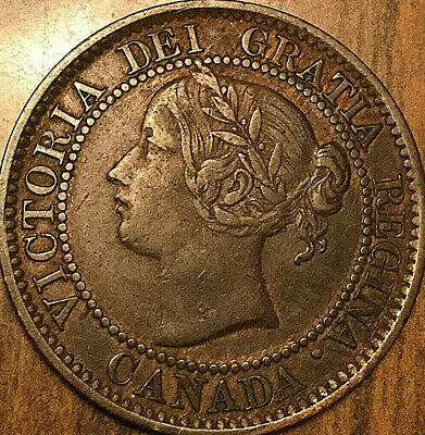 1859 CANADA LARGE CENT LARGE 1 CENT PENNY COIN - Excellent example !