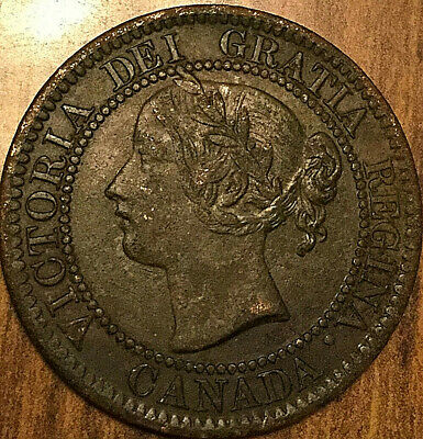 1859 CANADA LARGE CENT LARGE 1 CENT PENNY COIN - Corroded
