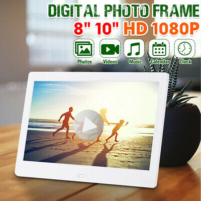 """10 """" HD LED Digital Photo Picture Frame 1024*600 Electronic Album Clock + Remote"""