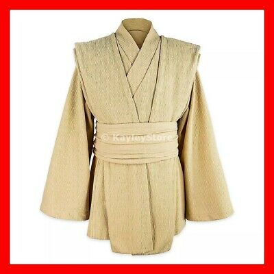 Disneyland Jedi Cosplay Adult Top Galaxy's Edge Star Wars Costume Tunic Beige NW