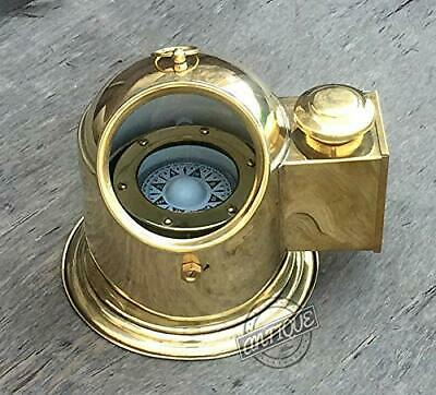 Nautical Vintage Full Brass Binnacle Compass Collectible Compass Gift