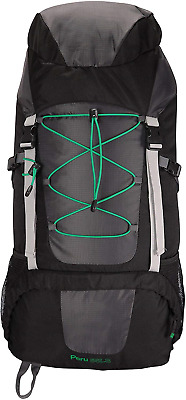 Mountain Warehouse Peru 55L Backpack - Compression, Rain Cover Travel Bag - For