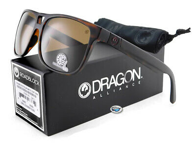 RP$240 NEW Dragon ROADBLOCK POLARISED Matte Tort Brown Sunglasses 33268-245