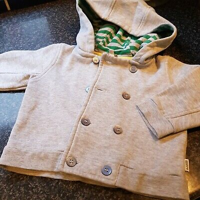 Boys TED BAKER Grey Hooded Jacket Age 9-12mths