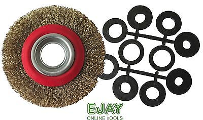 """6"""" (150mm) Bench Grinder Wire Wheel Brush with Adaptor Rings"""