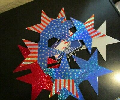 4Th Of July Patriotic Stars American Flag & Red, White, & Blue Ornaments Decor