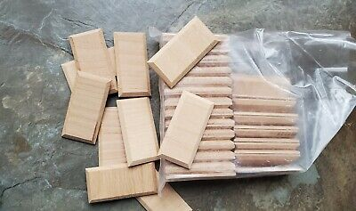 Dollhouse Miniature Wood Beveled Wall Panels Paneling x50 Pieces 1:12 Scale