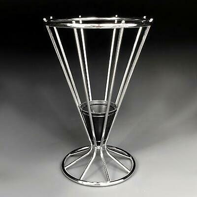 Superb antique ART DECO UMBRELLA STAND 1930's vintage chrome