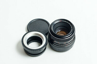RARE Carl Zeiss MC Pancolar 1.8/50 50mm f/1.8 lens with M42-M4/3 adapter. MINT
