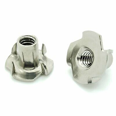 """25 Qty 1/4-20 x 7/16"""" Stainless Steel Four Prong Tee Nuts (BCP1022)"""